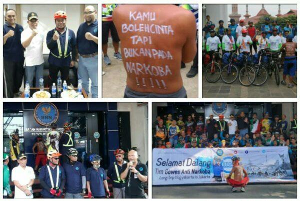 Team Gowes Long Trip Tolak Narkoba Jogja - Jakarta Tiba di Jakarta
