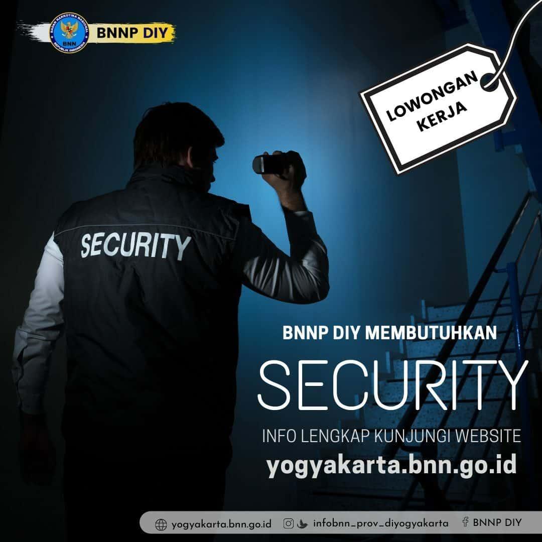 Lowongan Kerja: SECURITY 2021